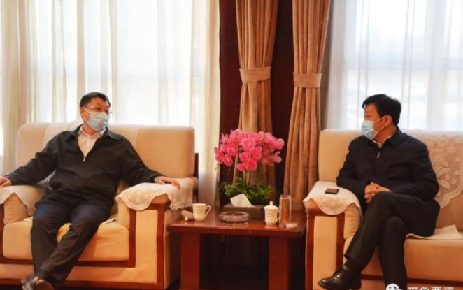 刘旋与华电山西能源有限公司总经理徐建伟座谈